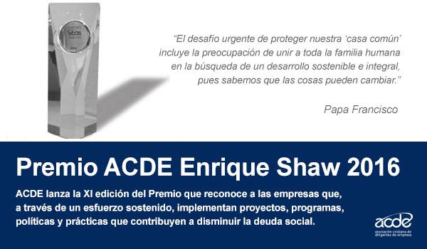 PREMIO ACDE ENRIQUE SHAW 2016